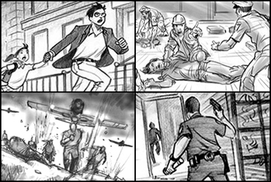 Black and White Storyboard Artist